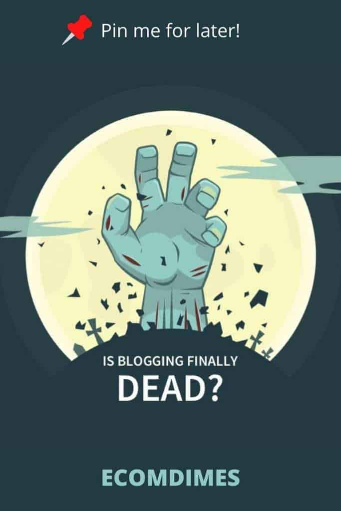 Blogging isn't dead in 2020, and neither will it ever be. Anything that you put online is bound to stay there for not a single lifetime but generations to come. The same goes for content, and any content you write and upload is bound to outlive you. So saying that blogging is dead or there is a chance of it happening is outrageous.