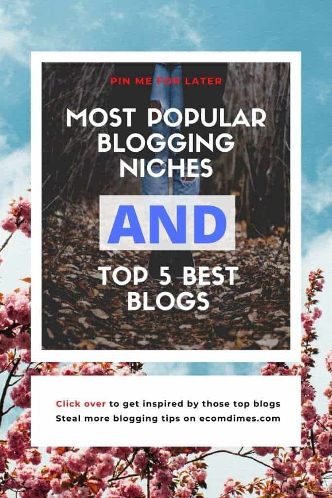 Choosing one of the best and popular blog niches can give you a head start, and by providing content related to those profitable niches you can increase the chances of establishing a successful blog and also have a solid monetization strategy! In this post, we'll explore the most popular blogging niches and then we'll take a closer look at the 5 most successful blogs to get you inspired. Follow along to learn more!  #bloggingtips #bloggingniches #bloggingincome #bloggingforlife