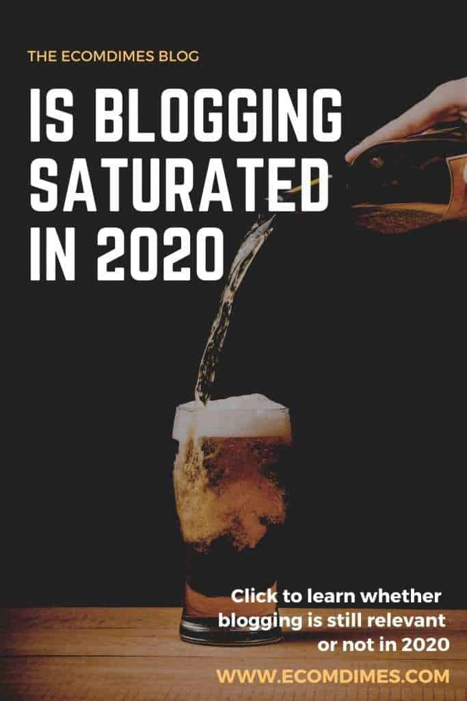 Is blogging saturated? This post is for anyone who believes that blogging is dead in 2020! Blogging will forever remain relevant so long as the internet exists, and since it's doesn't seem like it's going away soon