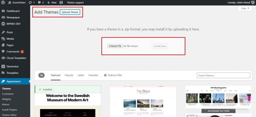 how to change a blog's theme