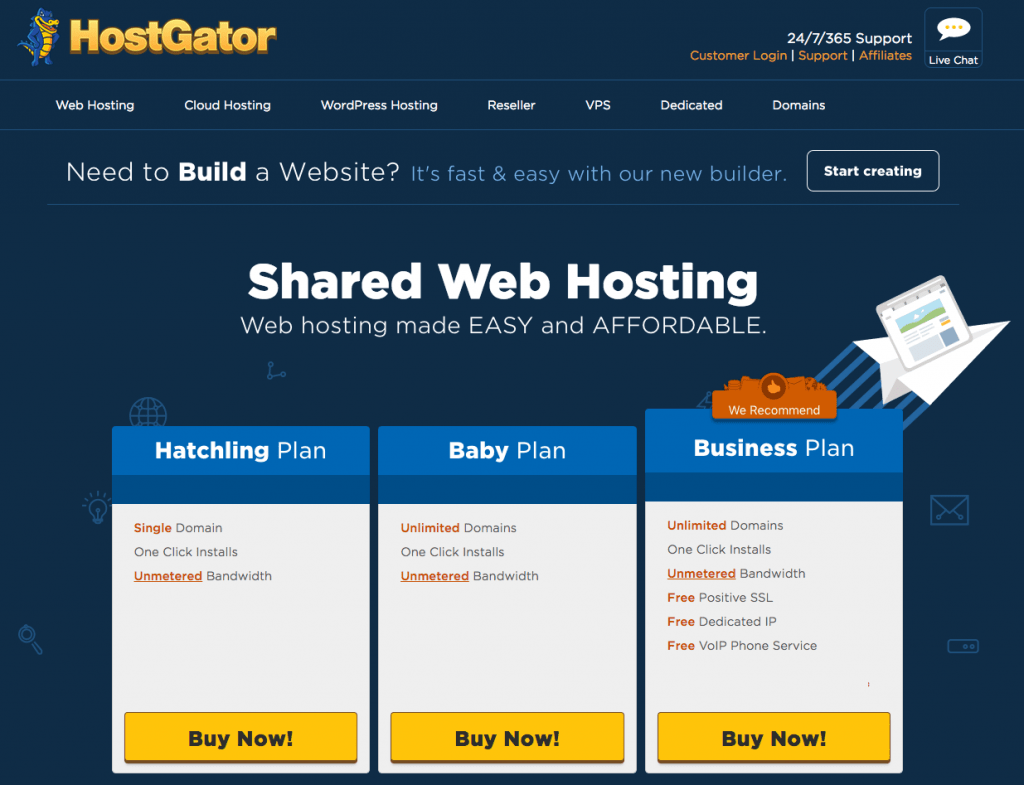what hosting should you go with when you start a blog