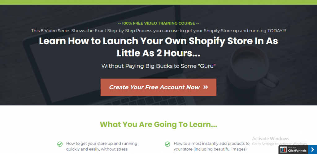 shopify funnel